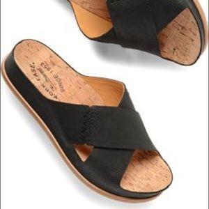 Kork-Ease Amboy Leather Slip On Sandals Sz 5